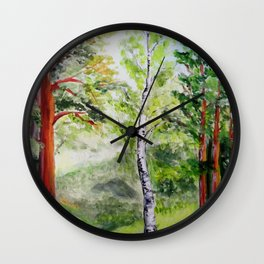 Forest - spring  Wall Clock