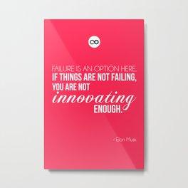 Elon Musk Quote Poster Metal Print