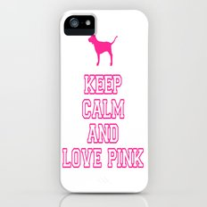 Keep Calm and Love PINK Slim Case iPhone (5, 5s)