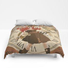 Lady Steampunk art nouveau Comforters