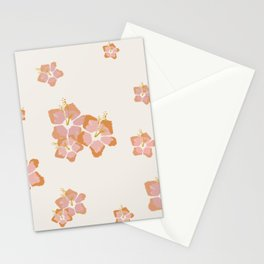 Peach Hibiscus Cute Pattern Stationery Cards
