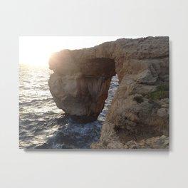 The Azure Window of Dwejra Metal Print