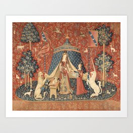 The Lady And The Unicorn Art Print