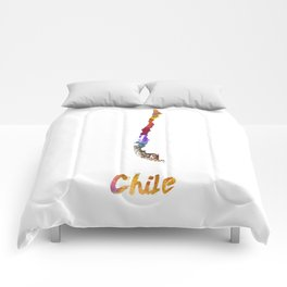 Chile in watercolor Comforters