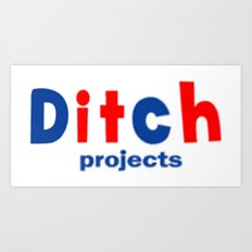 Ditch Projects Logo Art Print