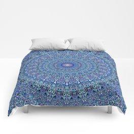 Blue Circle Garden Mandala Comforters