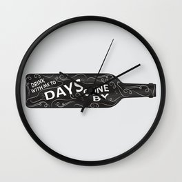 Drink With Me (bottle) Wall Clock