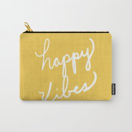 Happy Vibes Yellow Carry-All Pouch