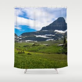 Logans Pass, Glacier National Park Shower Curtain