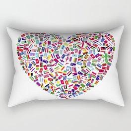 Heart flags countries Rectangular Pillow