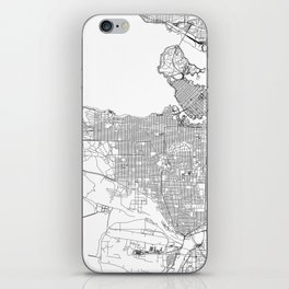 Vancouver White Map iPhone Skin