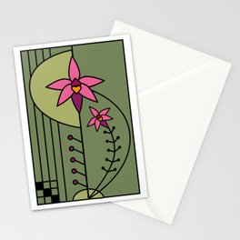 Art Deco Native Orchid Stationery Cards