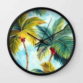 Palm Tree Allover Wall Clock