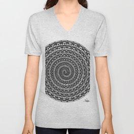 spiral 5 Unisex V-Neck