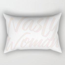 Nasty Woman for Black Background Rectangular Pillow
