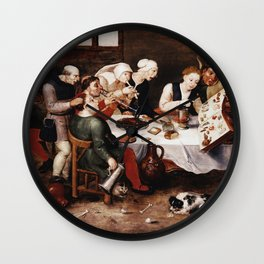 Hieronymus Bosch - The Bacchus Singers Wall Clock