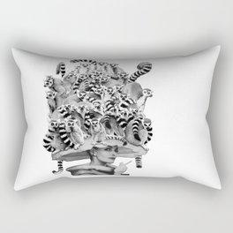 Her Ring-tailed Lemur Hat Rectangular Pillow