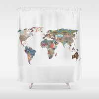 country Shower Curtains featuring Louis Armstrong Told Us So by Bianca Green