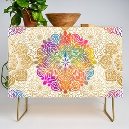Beautiful Colorful Bohemian Mandala Pattern Credenza