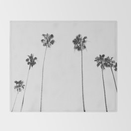 Black & White Palms Throw Blanket