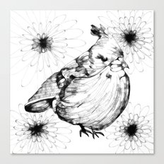 Birdy and Flora Canvas Print