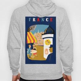 Vintage France Sidewalk Cafe Travel Hoody