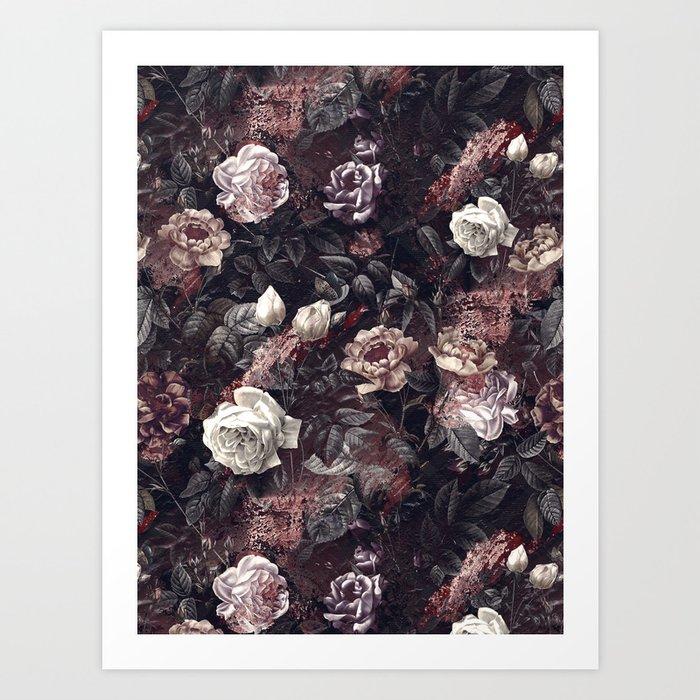 EXOTIC GARDEN - NIGHT III Art Print