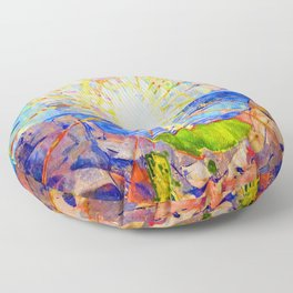 Edvard Munch The Sun Floor Pillow