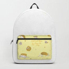 Yellow armadillo pattern Backpack