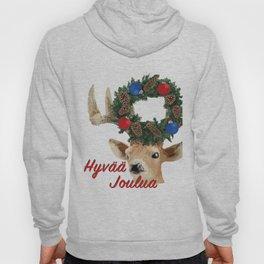 Hyuää joulua - finnish merry christmas deer Hoody