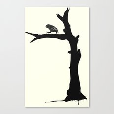 The Little Owl In The Tree Canvas Print