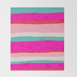 Candy Stripe Christmas Throw Blanket