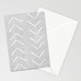Mudcloth Big Arrows in Grey Stationery Cards