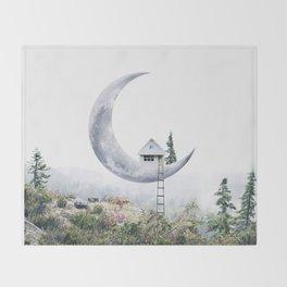 Moon House Throw Blanket