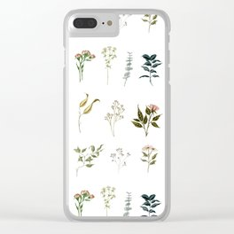 Delicate Floral Pieces Clear iPhone Case