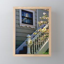 Upstairs Reflected, Downstairs Framed Mini Art Print