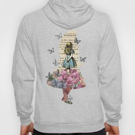 Alice In Wonderland Magical Garden - Vintage Book Hoody