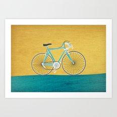 Enjoy The Ride Bike Art Print