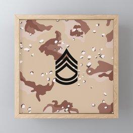 Sergeant First Class (Desert Camo) Framed Mini Art Print
