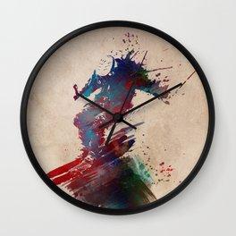 Ski sport art #ski #sport Wall Clock