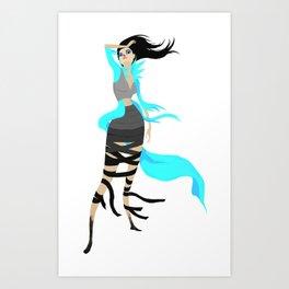 Miss Angorian Revealed Art Print