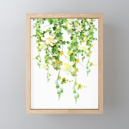 Watercolor Ivy Framed Mini Art Print