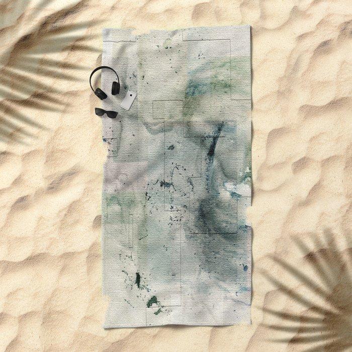 Area Map II Beach Towel