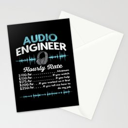 Audio Engineer Hourly Rate Motif Stationery Cards
