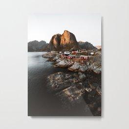 Fisherman Village, Lofoten Islands, Norway Metal Print