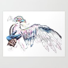 Like soaring through the heavens  Art Print