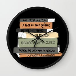 To Resurrect a Mockingbird (Black BG) Wall Clock