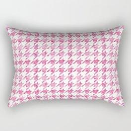 Watermelon Pink Houndstooth pattern Rectangular Pillow