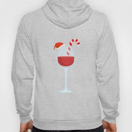 Wine Glass Christmas Candy Cane funny gift Hoody