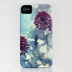 Flowers on Blue Slim Case iPhone (4, 4s)